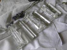 Lot de 6 repose-couverts ARTS DÉCO en verre et cristal