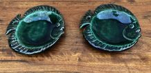 2 assiettes forme poisson