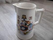 Pichet Vintage Digoin Sarreguemines France céramique décor s