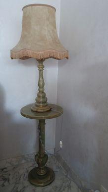 guéridon et lampe onyx