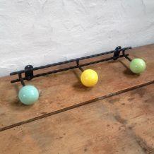 Patère vintage trois boules