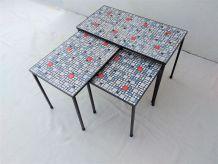 Table basse céramique années 60 vintage moderniste