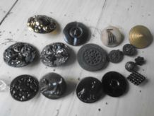 Lot boutons vintage