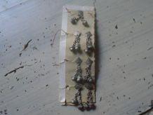 Boutons clochette en métal
