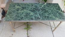 Table basse en marbre vert des alpes