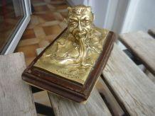 Presse Buvard en bronze doré  MARIONNET