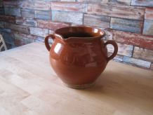jarre poterie en terre cuite vernis ancienne