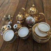 Service à café/thé en or 22ca