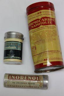 lot de 3 boites métal ancienne de médicaments