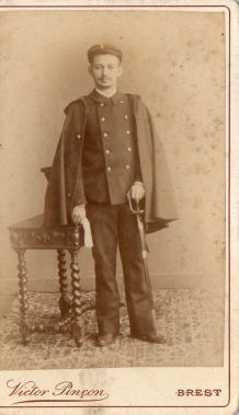 photo ancienne soldat vers 1900