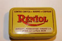 Ancienne boite de médicament métal Rénïol