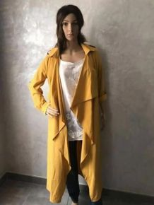 Trench long moutarde