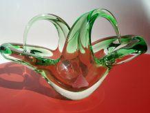 Superbe coupe corbeille vide-poches en verre Murano