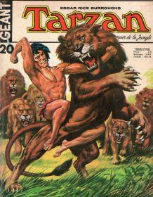 bande dessinée de Tarzan Géant 20 de 1974