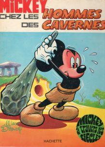 bande dessinée Mickey chez les hommes des cavernes 1970