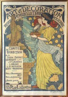 Affiche ancienne publicitaire : Art et décoration