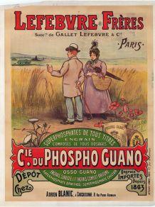 Affiche ancienne publicitaire Lefebvre Frères