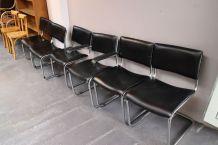 Lot de 6 chaises & fauteuil dlg Breuer 1980