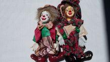Clowns en porcelaine