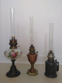 LAMPES A PETROLE ET LAMPE TEMPETE