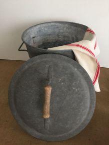 Lessiveuse en zinc, campagne, lessive d'autrefois