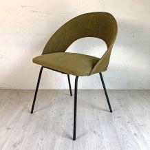 Chaise verte vintage 60's