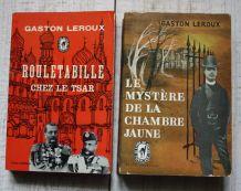 Lot de 2 romans policiers anciens, de Gaston Leroux