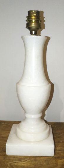 Pieds de lampe en albâtre véritable des année 70