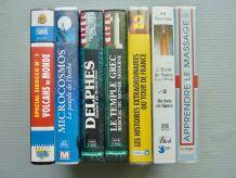 Lot de 7 cassettes videos 'culturelles' (VHS)