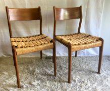 Paire de chaises style scandinave  – années 60