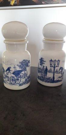 2 pots à pharmacie Vintage