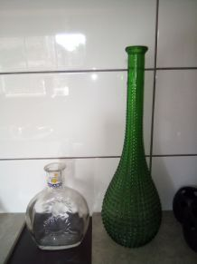 Grand Vase en verre vert