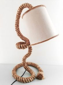 Lampe de table corde abat jour