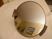 Plateau miroir et inox vintage