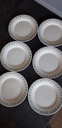 6 assiettes Terre de Fer  Choisy le Roy
