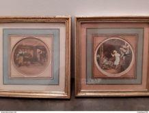 2 Gravures de G. Schlumberger - Fragonard -
