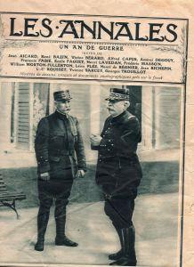 Les annales 1915 Général Pétain et Joffre page de couverture