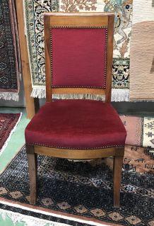 Chaise Restauration en acajou -  XIXème