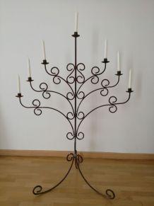 Grand candélabre en fer forgé 7branches