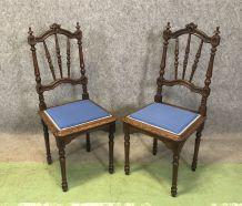 Paire de chaises bretonnes - début XXème