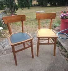 Paire de chaises anciennes années 60 vintage