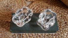 Salerons en cristal Daum