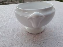 petite soupiere porcelaine blanche