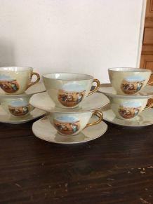 Six tasses à café années 60 estampillées Bloch & Co Eichwald