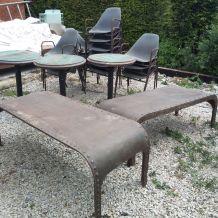 Magnifique table basse industrielle