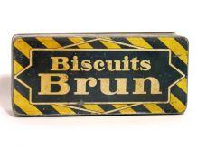 Boite Biscuit Brun 1930 pour Collection de Boites Anciennes