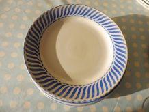 """Service 6 assiettes liserer bleu vintage Digoin """"Jacquot"""""""
