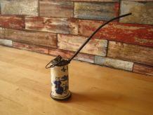 pipe ancienne en porcelaine et fer complète