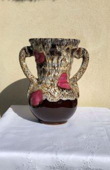 Vase style Vallauris céramique émaillée - Vintage