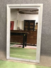 Miroir rectangulaire des années 50 patiné gris